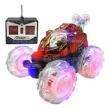 Carrinho Controle Remoto Carro Maluco Gira 360º C  Luzes Led