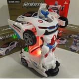 Carrinho Vira Robô Luz Som Transformers
