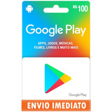 Cartão Google Play Store Gift Card R$100 Reais Br Imediato
