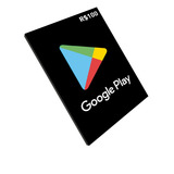 Cartão Play Store Google Gift Card R$ 100 Reais Android