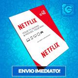 Cartão Pré pago Presente Netflix R$ 40 Reais Envio Imediato