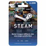 Cartão Presente Steam Gift Card R$ 200 Reais   Envio Digital