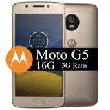 Celular Motorola Moto G5 16gb 4g   Android 7 0  Top E Lindo