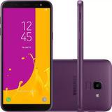 Celular Samsung J6 Galaxy Violeta 32gb Tela 5 6   Tv Digital