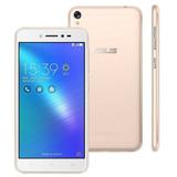 Celular Zenfone Live Dourado Asus 5  4g  32gb 13 Mp Anatel