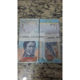 Centena De Cédulas De 2 Bolivares Fe