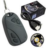 Chaveiro Mini Câmera Espiã Alta Resolução Filma Áudio Micro