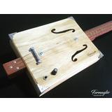 Cigar Box Guitar Classic 3 Cordas   Brinde
