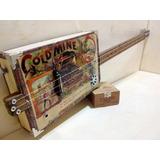 Cigar Box Guitar Sob Encomenda Gold