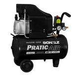 Compressor De Ar 8 2pés 2hp 25 Litros Pratic Air Schulz 110v