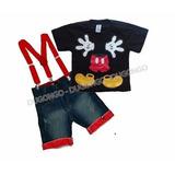 Conjunto Infantil Mickey   Suspensório Frete Grátis