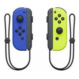 Controle Joystick Nintendo Joy con Azul amarelo néon
