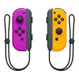Controle Joystick Nintendo Joy con Púrpura néon laranja néon