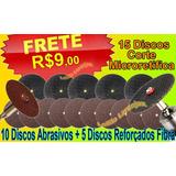 Dremel 15 Discos Corte Lote Micro Retifica Fort Frete R$9