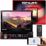 Dvd Retrátil Shutt Califórnia Bt 7 Pol Bluetooth Usb Sd Aux