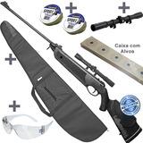 Espingarda Chumbinho 5 5 Rifle Pressão  luneta  capa  chumbi