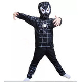 Fantasia Infantil Homem Aranha Negro Com Gorro
