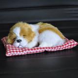 Filhote Pelúcia Cachorro Branco preto C almofada 18 Cm