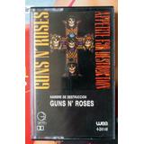 Fita K7 Guns N  Roses Appetite For Destruction   Argent 1987