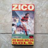 Fita Vhs Do Zico Os Mais Belos Gols Fla100 Futebol Flamengo