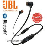 Fone De Ouvido T110bt Bluetooth Preto Jbl T110 Bt Original