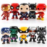 Funko Pop Kit Completo 10 Personagens Vingadores liga