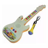 Guitarra Infantil Com Microfone   10 Sons   Xin Anda Top