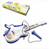 Guitarra Musical Eletrônica Com Microfone Brinquedo Infantil