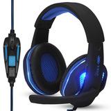 Headset Gamer Pc Fone Ouvido   Adaptador Ps4 Celular Grátis