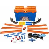 Hot Wheels Balde Kit Track Builder   1carrinho 35 Pçs Mattel