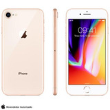 Iphone 8 Ouro 4 7   4g  64 Gb  12 Mp   Mq6j2br a
