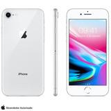 Iphone 8 Prata 4 7   4g  64 Gb  12 Mp   Mq6h2br a