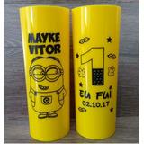 Kit 100 Copos Personalizados Long Drink 350ml Frente E Verso