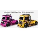 Kit 2 Brinquedos Caminhão Formula Truck Racing  Frete Grá