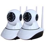 Kit 2 Câmera Ip Visão Noturna Wifi 720p 1 3 Mp 2 Antenas