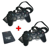 Kit 2 Controle Playstation2 C fio Memory Card 8mb Barato Cfi