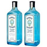 28d2db9079 Kit 2 Gin Bombay Sapphire Dry London 750ml caixa De Madeira