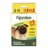 Kit Antipulgas Ceva Para Cães Até 10kg Fiprolex Drop Spot Le
