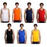 Camiseta Regata Masculina Lisa Básica Sem Estampa Algodão 56df5e49a63
