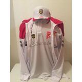 Kit Camiseta Polo bone jaqueta Ferrari Santander Branco da6b1c9859a