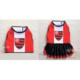 2bee4ad4ba Kit Com 1 Um Colete Pet um Vestido Pet Time Flamengo 4 5 6