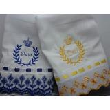 Kit Com 2 Fraldas De Boca Personalizadas