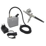 Kit Completo Aerografia Mini Compressor Ar   Aerógrafo 0 3mm