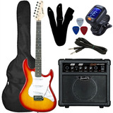 Kit Guitarra Strinberg Egs216   Sts100 Cubo Sg15  acessorios