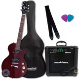 Kit Guitarra Strinberg Lps 200 Regulada Oferta Envio Já