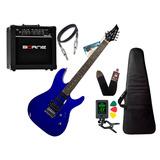 Kit Guitarra Tagima Memphis Mg230 Azul Amplificador Borne
