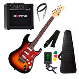 Kit Guitarra Tagima Mg32 Sunburst Cubo Caixa Borne G30