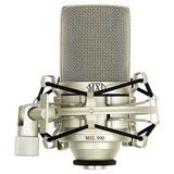 Kit Microfone Mxl 990 Para Estudio Com Case E Aranha