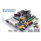 Kit Placa Mãe Msi Core 2 Duo 3 0 Ghz   4gb   Completo