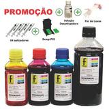 Kit Recarga 650ml Cartucho 664 662 Hp 1516 3635 2675 2136